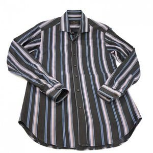 Etro Milano Italy striped dress shirt size 38